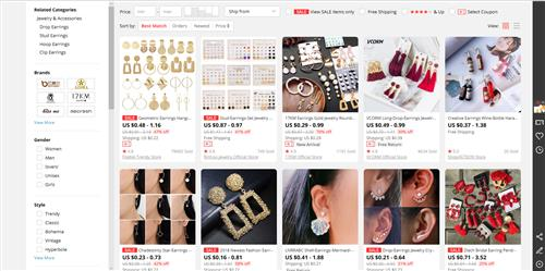 China wholesale - Jewelry and apparel accessories market in Guangzhou