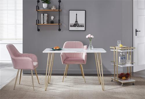 Buy Side & End Tables From China Furniture Factory - Marble Gold Accent Table For Dining & Kitchen room with storage trolley bar cart
