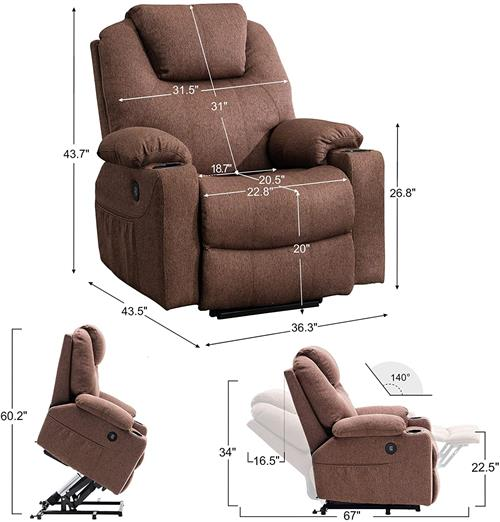 Electric power lift recliner armchairs sofas for elderly - hot selling e-commerce KD package buy from China manufacturer