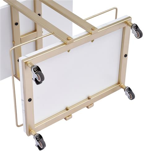 Trolley bar cart multiple funcitions for commercial stores - best living room furniture collections resell online shops - perfect design modern style with marble tops and gold color side & end table