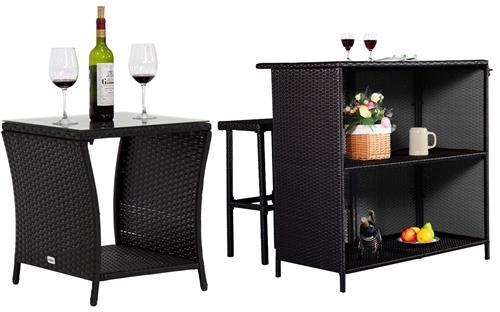 Lounge sofa & chaise chair for outdoor entertainment - lounge side table