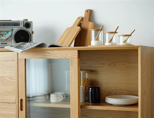 Sideboard Cabinet - Northern Europe solid wood cabinet Furnitur, living room, bedroom dieplay console